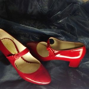 Bettye Muller red Mary janes